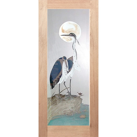 HAND PAINTED 2 STORKS