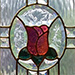 Triple Glazed Leadlight - English Rose
