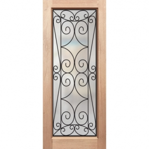 Wrought Iron Solid Timber